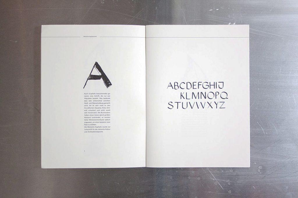 Editorial Design. Broschüre über Typografie.