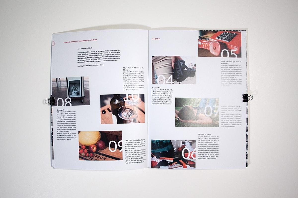 Editorial Design. Magazin als Semesterarbeit. Typografie.