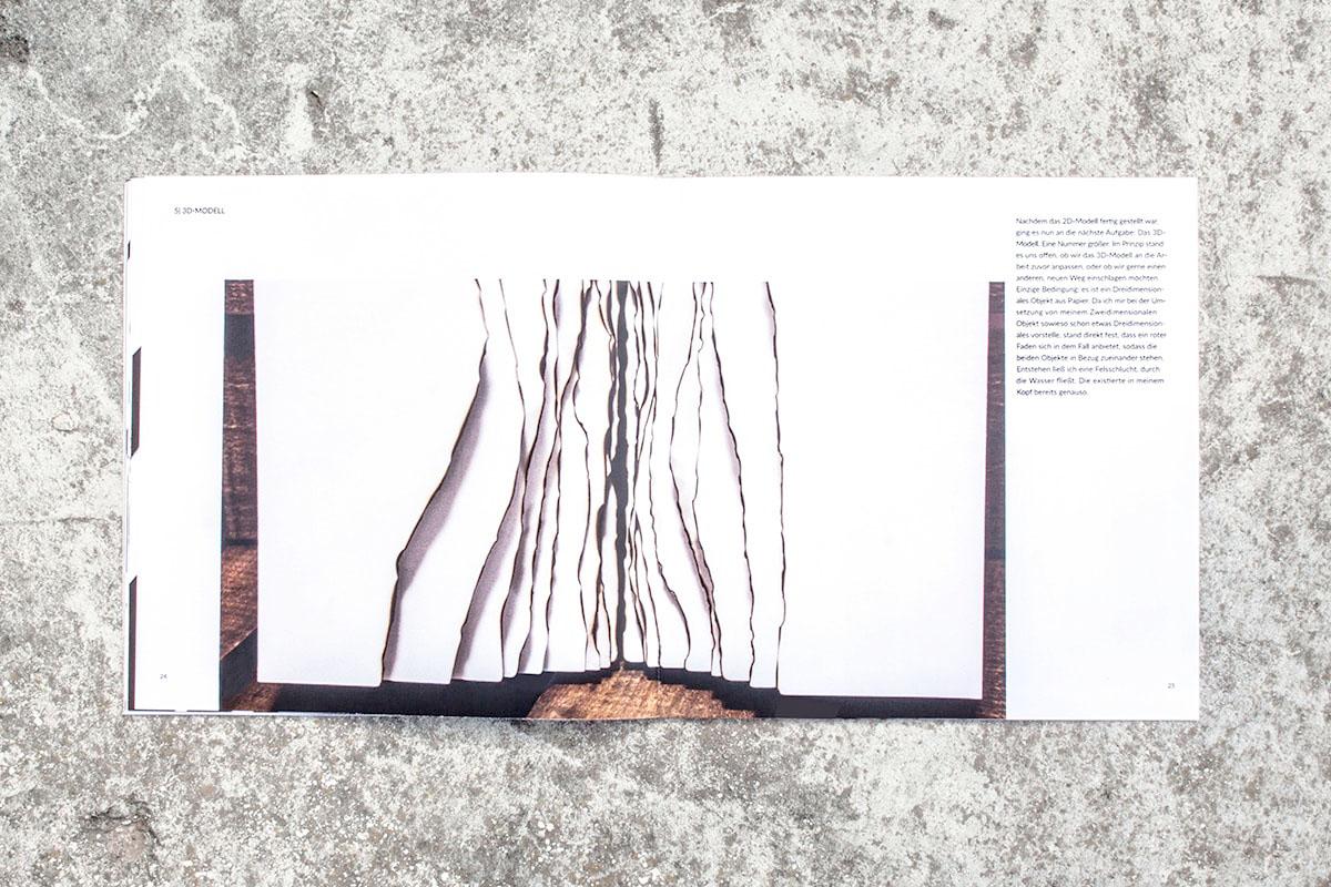 Editorial Design. Dokumentation. Heft über Paperart.