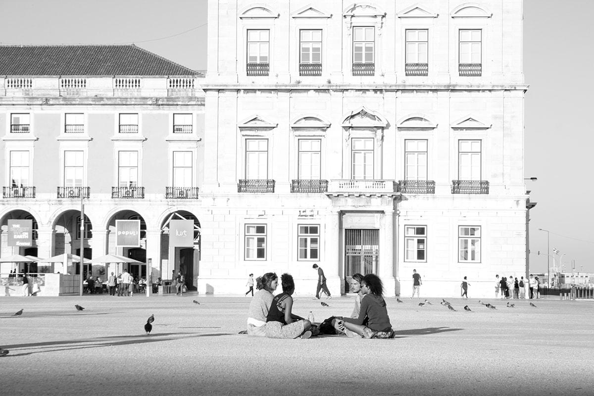 Fotografie. Großer Platz in Lissabon.