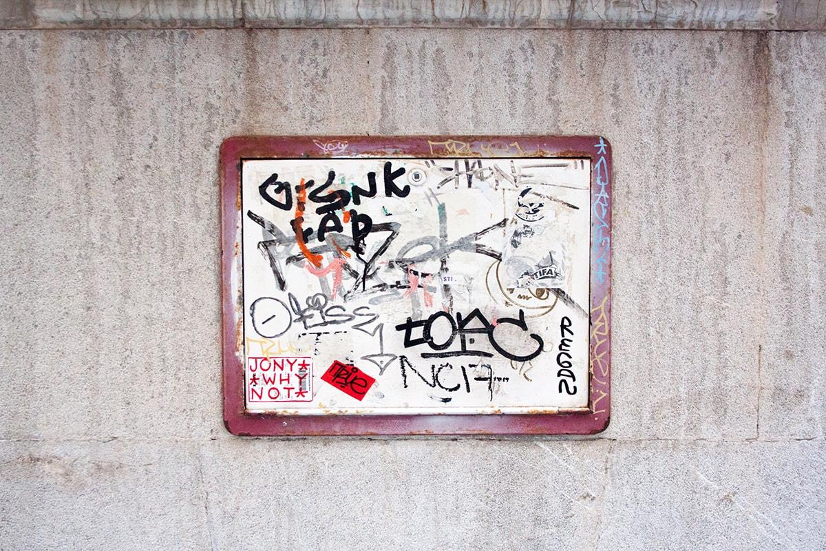 Fotografie. Straßenfotografie. Graffiti.